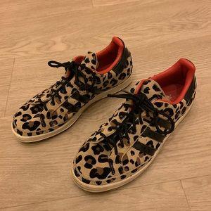 Adidas Leopard Suede Superstar Tan Black Sneakers
